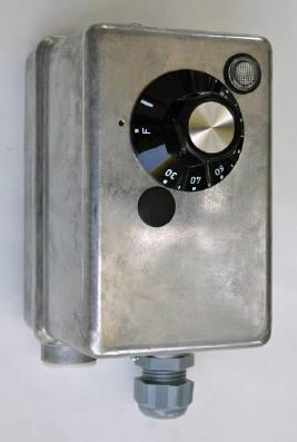Termostaat, kaitse- ja reguleerimisseade TY signaallambiga